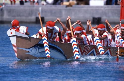 Kadena Harlee (boat race) at Kadena Fishery Harbour, Okinawa Pref.