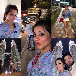 Monalisa new pics 2020 with Vikrant singh