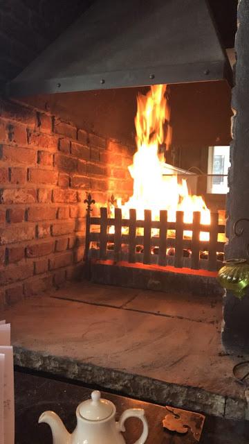 The Calverley Arms, Leeds open log fire