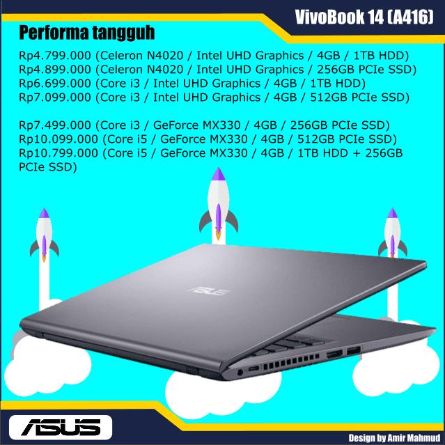 Performa tangguh ASUS VivoBook A416