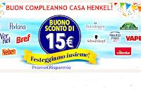 Logo Buon Compleanno Casa Henkel : sconto di 15 euro come regalo certo