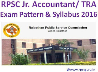RPSC Jr. Accountant New Syllabus 2016