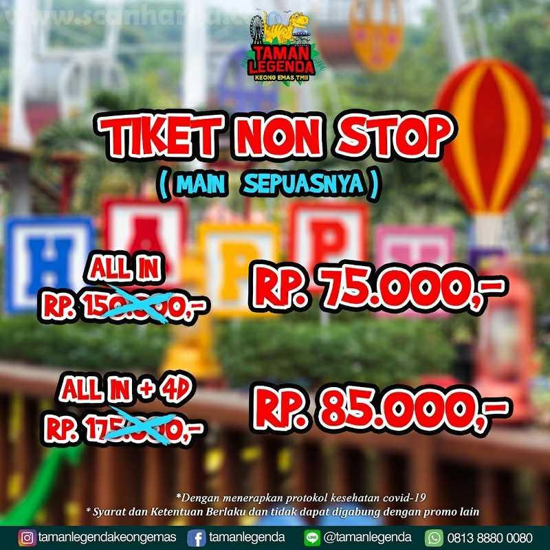 Promo Taman Legenda Keong Emas Tiket Non Stop (Main Sepuasnya) – All In Hanya Rp. 75.000 4D Cuma Rp. 85.000