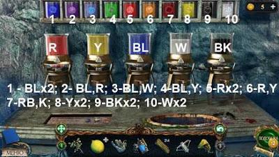 делаем краски по цветам и по порядку в игре затерянные земли 3