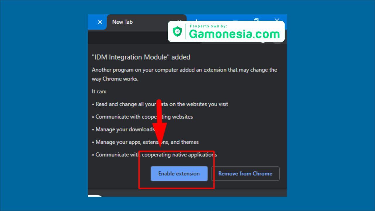 cara memunculkan ekstensi idm di browser