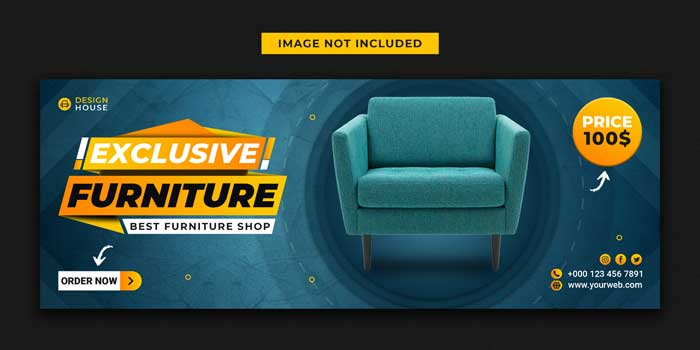 Exclusive Furniture Sale Banner PSD Template