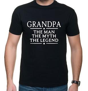 Pomysł na prezent dla dziadka - koszulka Grandpa - the man the myth the legend