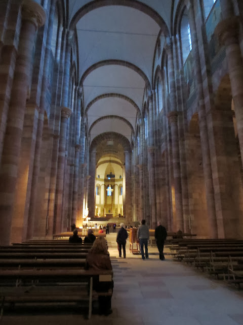 Inside Speyer Cathedral in Germany