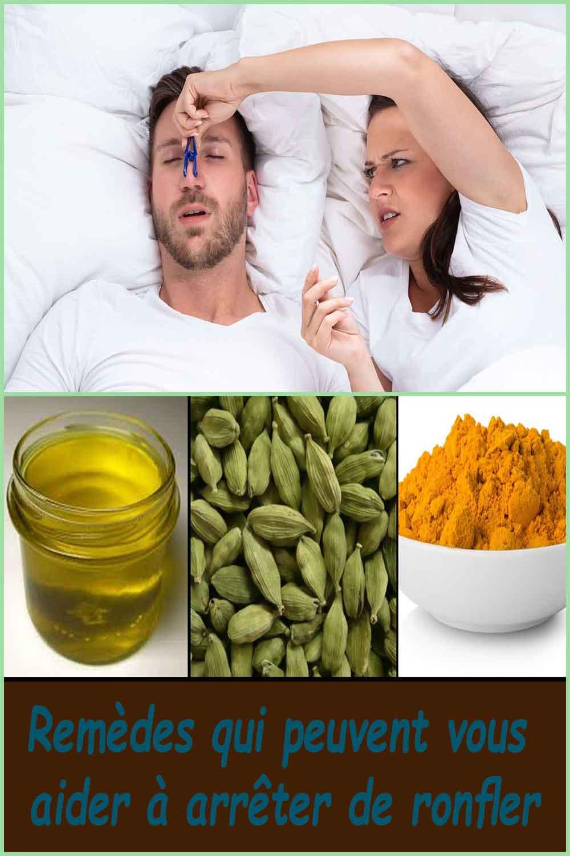 Remèdes qui peuvent vous aider à arrêter de ronfler