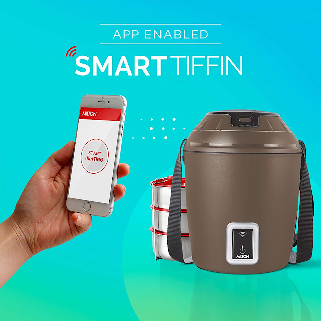 MILTON Smart Electric App Enabled Tiffin Box, Brown