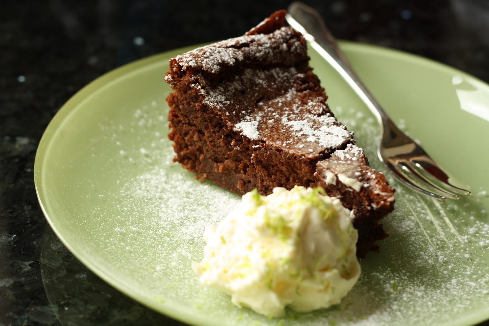 Nigella Flourless Chocolate Lime Cake