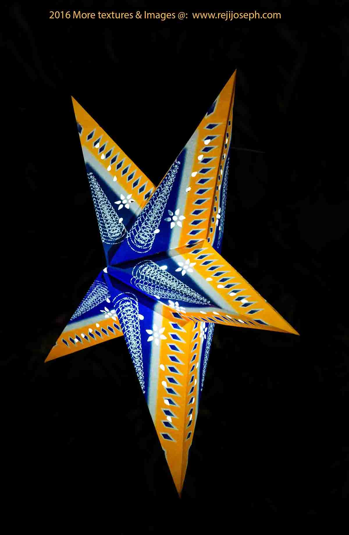 Christmas star Illumination light decoration 00013