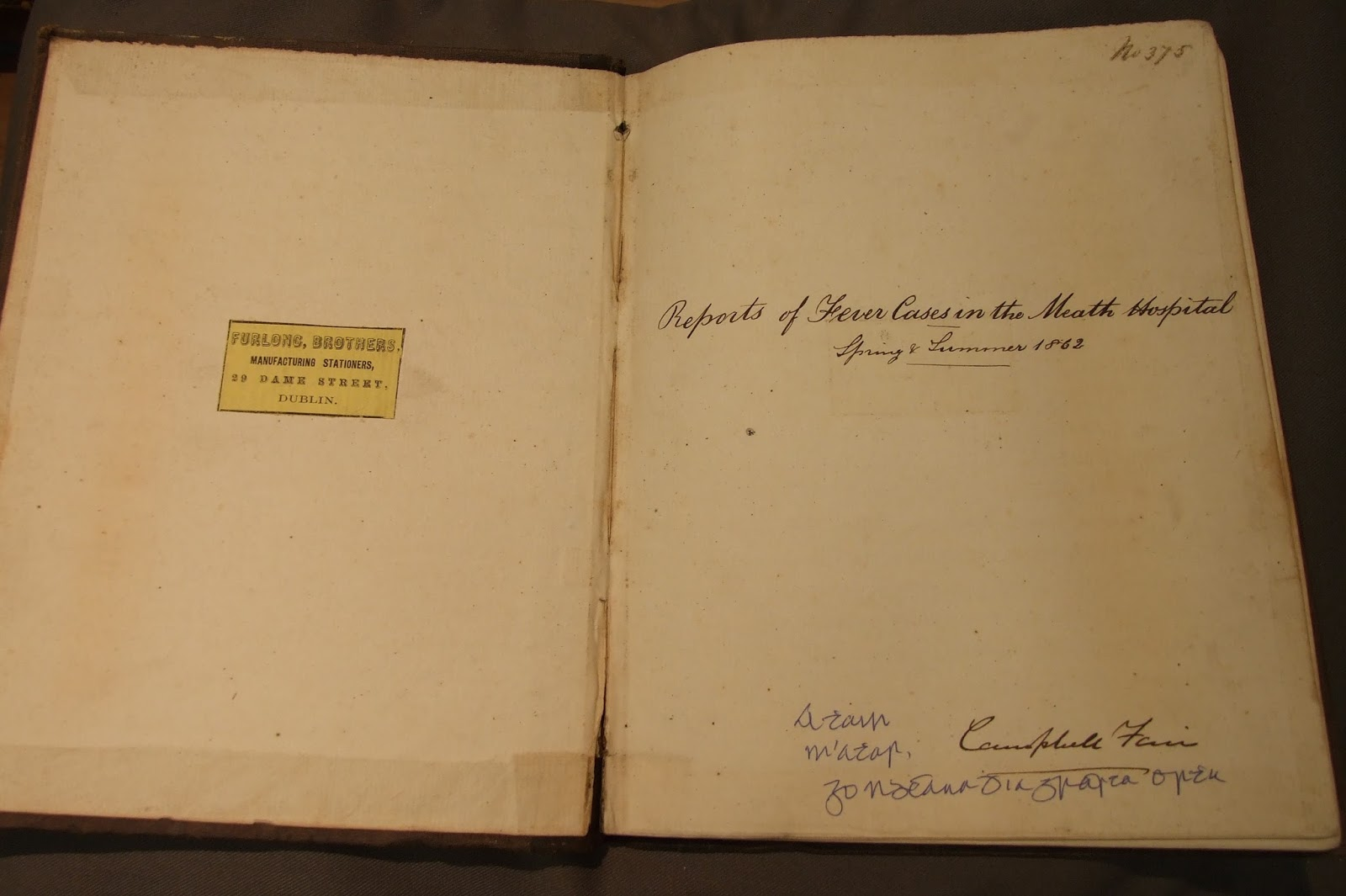 New Accession: Casebook of Dr Campbell Fair | RCPI Heritage