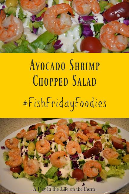 Avocado and Shrimp Chopped Salad pin