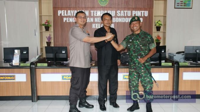 Mempererat Jalinan Silaturahmi ,Danyonif Raider 514 Kostrad  Sambangi Pengadilan Negeri Bondowoso