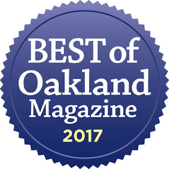 We won 'Best of Oakland and the East Bay' in the Oakland Magazine Contest 2017 (for the third time)