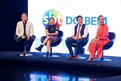 Celso Portiolli, Maisa, Daniel e Eliana ( Foto: Gabriel Cardoso/SBT)
