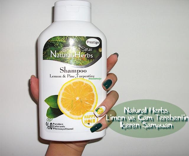 Natural Herbs Limon ve Çam Terebentin İçeren Şampuan