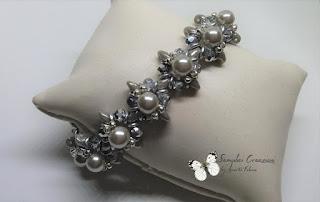 bracciale con superduo e perle