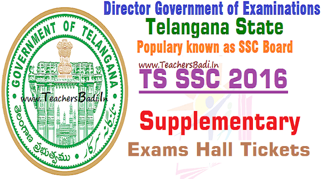 TS SSC Supplementary Exams,Hall Tickets,TS SSC ASE Hall Tickets 2016