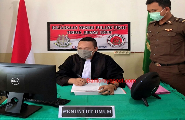 Dampak Corona, Jaksa Kejari Pulpis Sidang Perkara Pidana Umum Menggunakan Video Conference