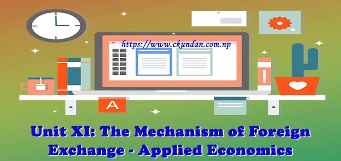 Unit XI: The Mechanism of Foreign Exchange - Applied Economics