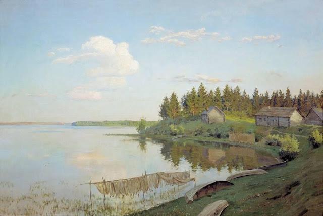 Исаак Ильич Левитан - На озере (Тверская губерния). 1893