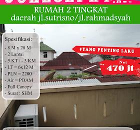 di jualcepat rumah 2 tingkat daerah jl.sutrisno/jl.rahmadsyah  <del>Rp 500.000.000,-</del> <price>Rp 470.000.000,-</price> <code>LONG-2</code>