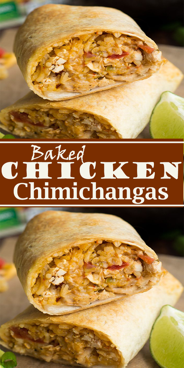 Baked Chicken Chimichangas #Baked #Chicken #Chimichangas #BakedChickenChimichangas