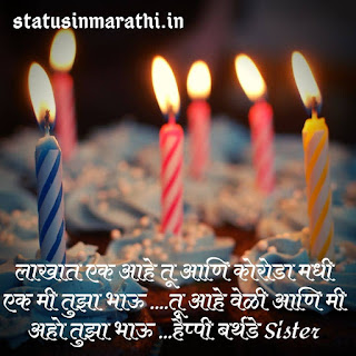 Happy Birthday Wishes For Sister In Marathi Language Text