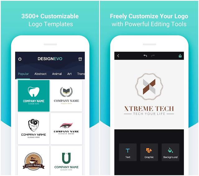 تطبيق DesignEvo يمكنك من تصميم لوجو احترافي مجاناً عن طريق الهاتف فقط !