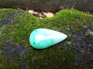 Natural Giok Jadeite Jade Type A Burma JDT022 White Apple Green Istimewa