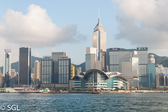 Skyline de Hong Kong, la antigua colonia britanica