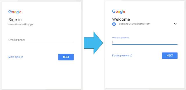 Tampilan Halaman Login Google Terbaru