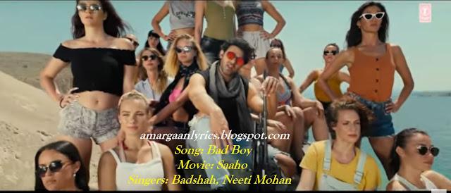 bad boy lyrics saaho