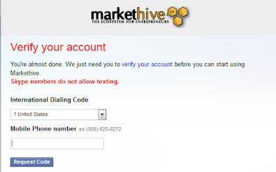 markethive Enter your phone number