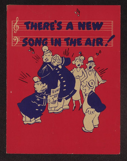 Cover of sheet music for Pepsi-Cola Radio Jingle featuring Keystone Cops Pepsi and Pete. c.1930s Jingles and other stories about The American Dream. marchmatron.com