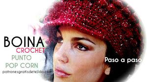 Boina Crochet con Visera / Paso a paso
