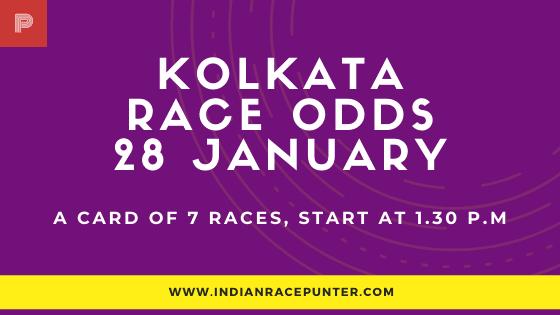 Kolkata Race Odds 28 January, Race Odds,
