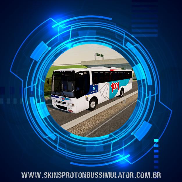 Skin Proton Bus Simulator - El Buss 340 MB OF-1721 Euro II 4X2 Auto Viação 1001