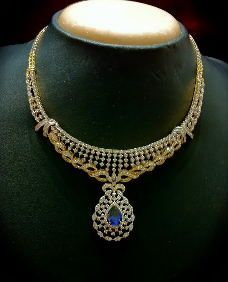 Dazzling diamond necklace jewellery designs for Designs com