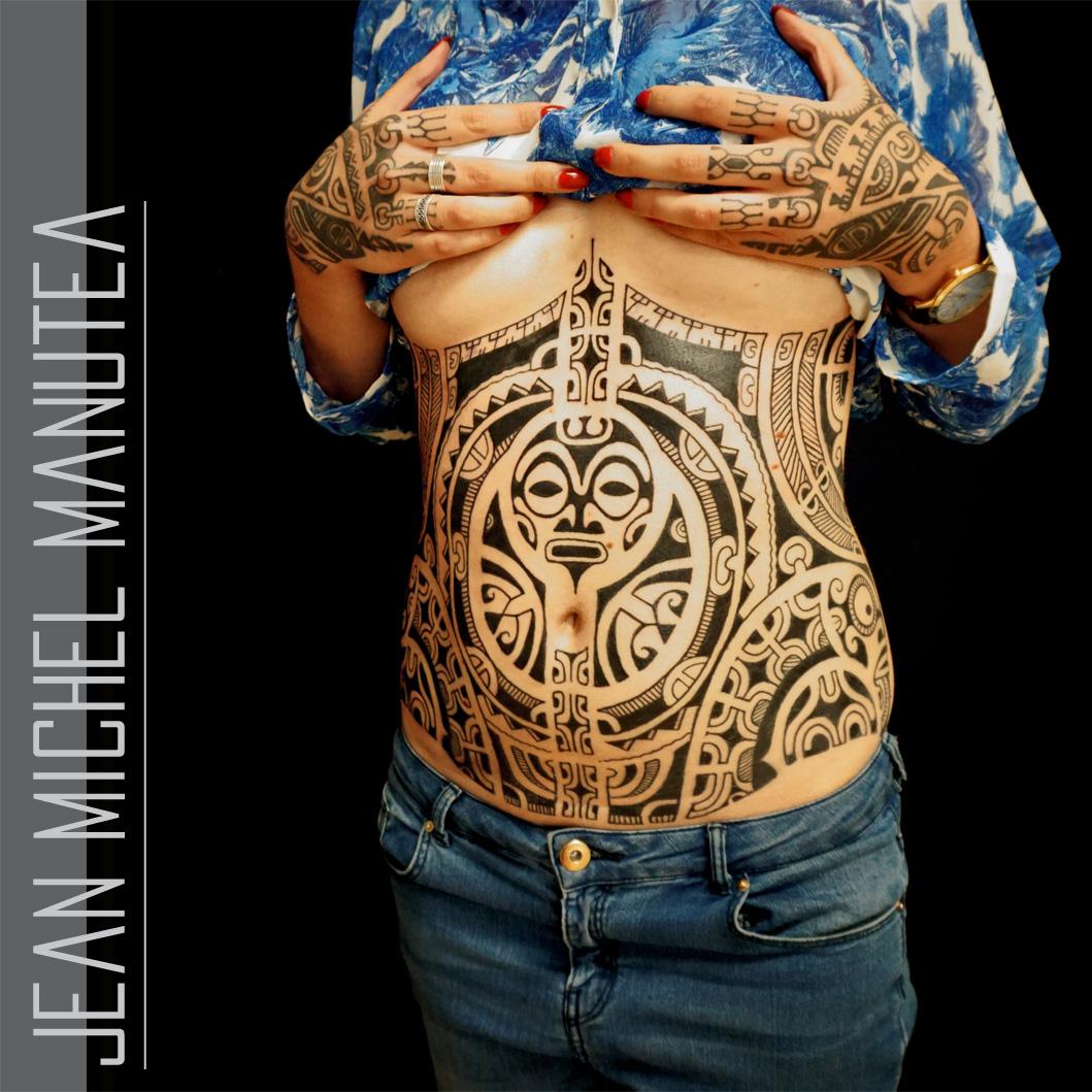 Tribal Tattoos: Tatouage Polynesien-polynesian Tattoo: Tribal Tatau Tahiti