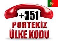 +351 Portekiz ülke telefon kodu