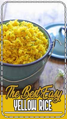 The Best Yellow Rice Easily complements almost any meal. You can make it on the stove or in a rice cooker. Very tasty! We are a large rice family, mainly because I am a very large rice gal.