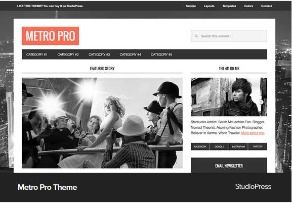 Metro Pro Theme Award Winning Pro Themes for Wordpress Blog : Award Winning Blog