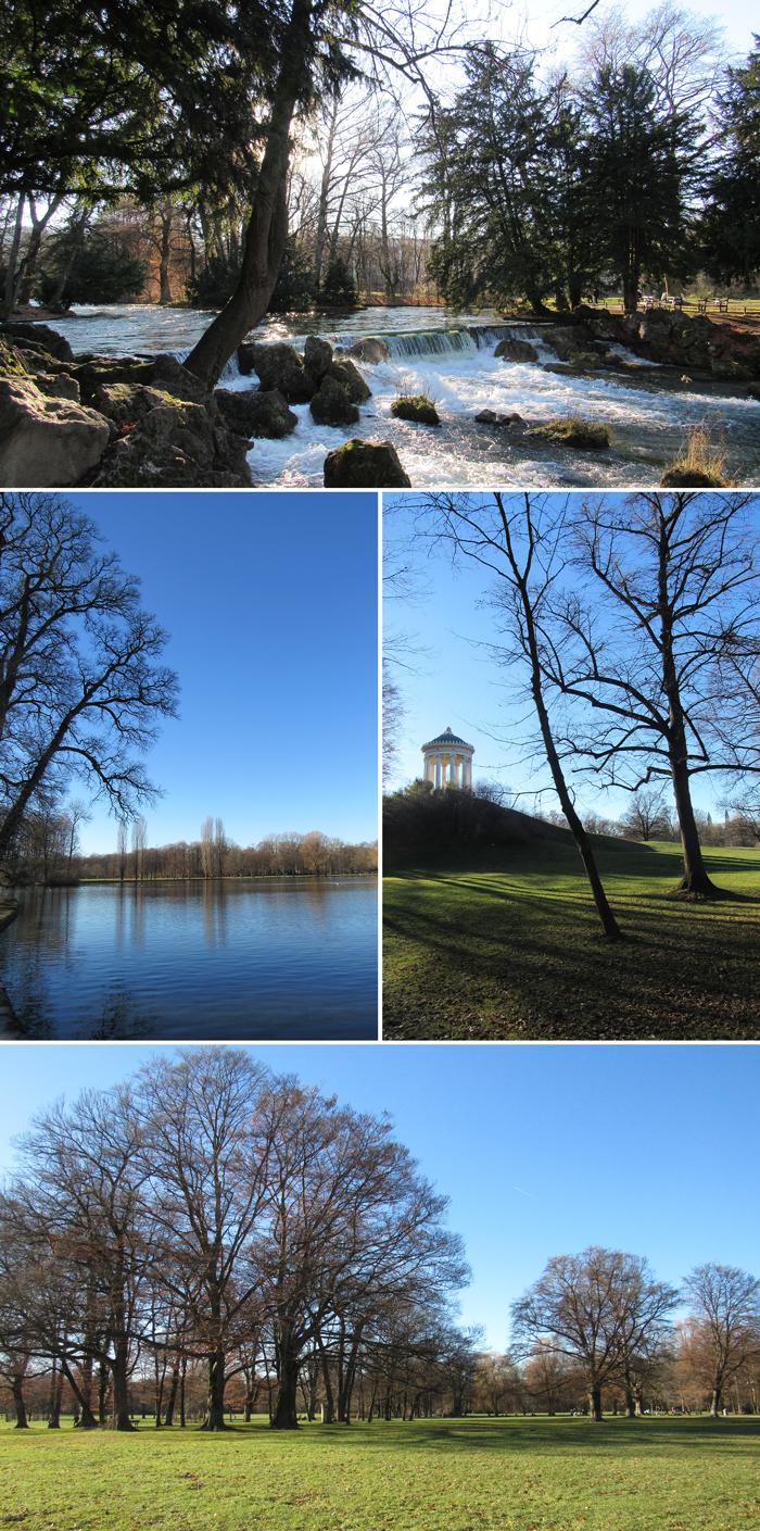 Jardín Inglés, Munich, Bavaria, Alemania, guía de viaje