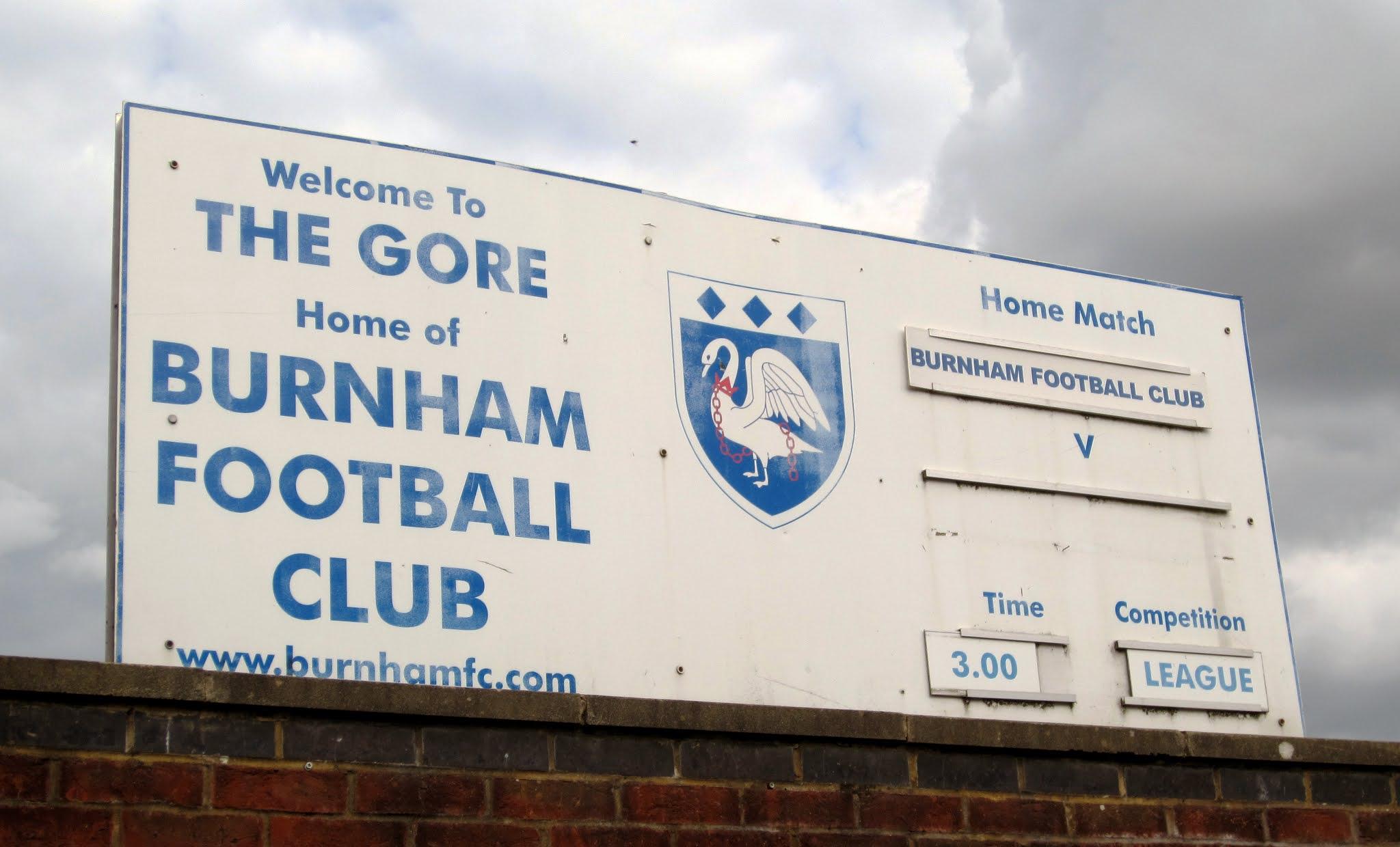 Sign outside The Gore, Burnham