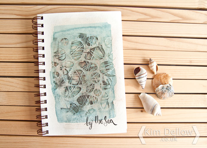 Kim Dellow Sea-inspired art journal page
