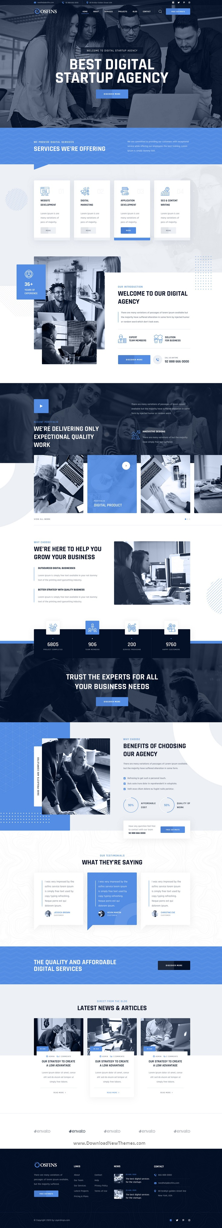 Digital Startup Agency Template
