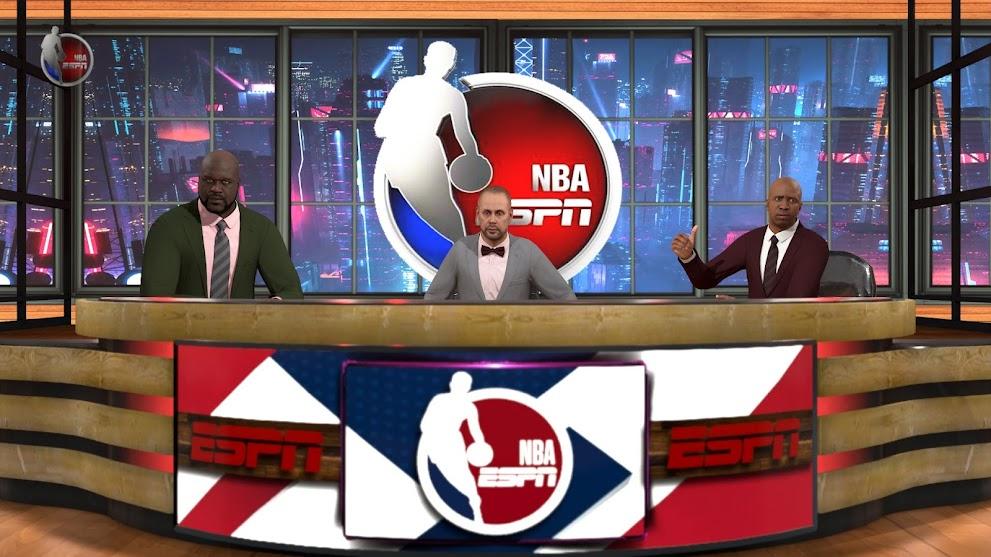 NBA 2K21 ESPN Halftime Show Studio By 2KGOD